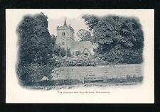 Worcestershire Worcs BURLINGHAM Old Stocks Church c1900/10s? PPC