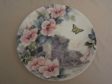 PERSIAN KITTENS collector plate SUMMER SURPRISE Petal Pals #7 CAT Lily Chang