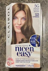 Clairol Nice'n Easy Permanent Hair Color Crème 5G Medium Golden Brown Brand New