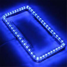 Universal 12V Blue 54 LED Light Car Front Rear Number License Plate Frame RGR rt