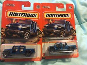2021 Matchbox #36 - '20 Jeep Gladiator Rubicon - Lot of 2   - Blue