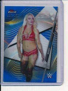 MANDY ROSE 2020 WWE TOPPS FINEST BLUE REFRACTOR PRIZMS /150