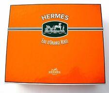 """Vintage Hermes Orange Perfume Box 7"""" X 8.5"""" for Eau D'Orange Verte Paris"""