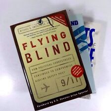 Lot (3) First Edition AVIATION Books Flying Blind September 11th 9/11 Seaplanes