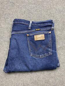 Wrangler Jeans Mens 42 Denim Cowboy Cut Slim Classic Fit 42 x 34 Adult Blue Wash