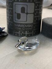Swarovski Crystal Figurines Miniature Duck Swimming 7653 Nr