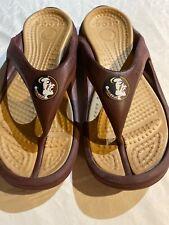 Crocs  Florida State Seminoles Flip Flops Thong Sandals Sz 13 Euc