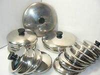 Replacement Stainless Steel Lids Revere Ware Pots Pans 5 5.5 6 7 8 9 10 12 Inch