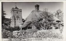 Thatched Cottage & St. Mary's Church, BURPHAM, Sussex RP