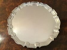 Quality Antique Solid Sterling Silver Card Tray or Salver London 1901