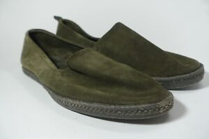 allsaints suede slip on loafers