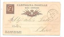 FASANO ( BR ) - Intero Postale viaggiato 1879...mittente Giuseppe Mangini