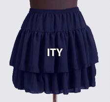 25 Colors Women Girl Chiffon Short Mini Tiered Skirt Pleated Retro Elastic Waist