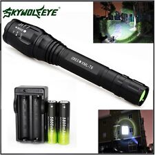 Zoomable 12000LM 5-Mode CREE XMLT6 LED Flashlight Torch Lamp Light 18650&Charger