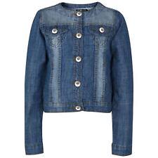 Kids Girls Denim Jackets Designer Light Blue Jeans Jacket Fashion Coat 3-13 Year