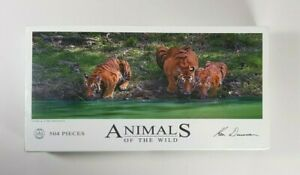 Animals of the Wild Ken Duncan Tiger & Cubs Drinking Jigsaw Puzzle 504 Pieces