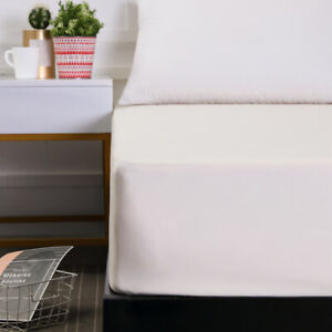 Fitted Sheet Queen Size Bed Mattress Cover 18in Deep Pocket All Around Elastic