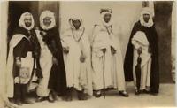 Tunisie, dirigeants tunisiens vintage albumen print, Tunisia Tirage albuminé