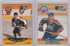 1990 Pro Set Hockey Card #397 #349 Mark Messier Edmonton Oilers