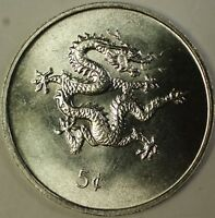 2000 Republic of Liberia 5 Cents Year of the Dragon BU Coin