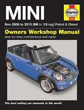 Haynes Manual 4904 Mini Mk 2 ONE Cooper Convertible 1.6D 2.0D Nov 2006-2013