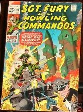 SGT. FURY 92 SERGEANT 1063 & HIS HOWLING COMMANDOS NICK AGENT OF SHIELD VG