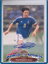 """2010 UD WORLD OF SPORTS #120 SONIA BOMPASTOR """"FRENCH SOCCER """" AUTOGRAPH/ AUTO*"""