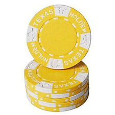 Fiches Clay Texas Hold em Giallo blister 25 pz.