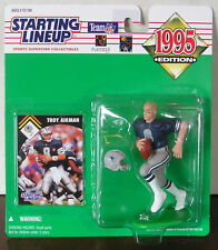 1995 Troy Aikman Dallas Cowboys Starting Lineup mint in pkg with football card