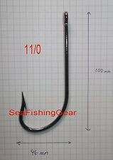 Bag of 10, 11/0 O'Shaughnessey Hooks (BLN Finish) Shark/Conger