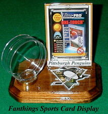 Pittsburgh Penguins NHL Sports Card Display Hockey Puck Holder Logo Gift