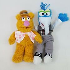 Disney Bundle Of The Muppet Show Soft Toy Beanie Fozzy Bear & Gonzo 9""