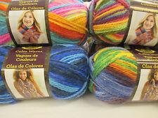 Lion Brand Yarn Colour Waves DK Acrylic/Wool Yarn,100g knitting yarn.13 colours!