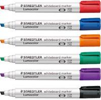 Staedtler Lumocolor 351-B Whiteboard Dry Wipe Marker Pens - Chisel Tip