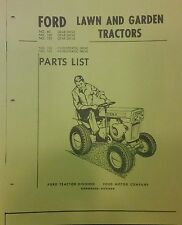 Ford 80 100 120 Lawn and Garden Tractor Parts List 36p Riding Mower Gear & Hydro