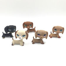 5pcs littlest pet shop dogs LPS toy DACHSHUND playset #932 #1491 #325 #556 #518