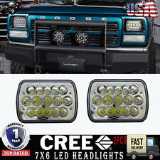"5"" X 7"" LED Headlight 7X6"" Headlamp Replacement for Jeep Cherokee XJ 1984-2001"