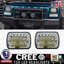 "5"" X 7"" LED Headlight 7X6"" Headlamp Replacement for Jeep Cherokee XJ 1984-2001"