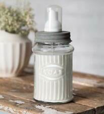 Vintage Replica HOOSIER Kitchen Cabinet Brand FOAMING JAR SOAP DISPENSER Gray