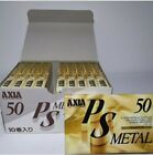 FUJI AXIA lot of (2/ 5/ 10/ 25) PS METAL 50 blank cassette tape (sealed)