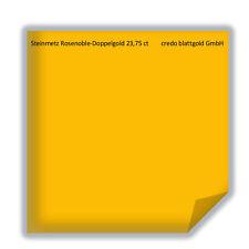 Steinmetz Rosenoble Doppelgold 23,75 Karat Blattgold lose - 25 Blatt neu