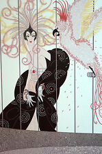Erte 1982 - COCKATOO in BIRD CAGE and Pink Lady - Art Deco Fashion Print Matted