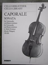 Caporale Sonata in D minor for cello and piano *NEW*  Publisher Schott CB100