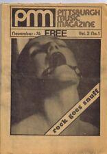 ORIGINAL Vintage November 1976 Pittsburgh Music Magazine RARE
