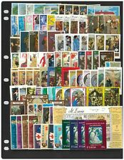 St Lucia 100 Different Stamps In Complete Sets All Mint Unhinged