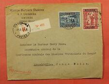 1930 Belgian Congo Ruanda Urundi Overprint Usumbura Registered To Leopoldville