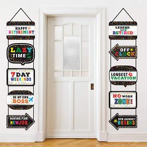 Happy Retirement Party Supplies, 10 Pieces Happy Retirement Hanging Decorations