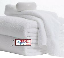 NEW BATH TOWELS 6 PACK 24x50 INCHES WHITE 11LBS 100% COTTON GYM SALON SPA HOTEL