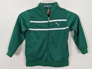 PUMA Toddler boys Zipper tracksuit green white jacket 4T