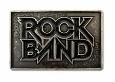 ROCK BAND - VIDEO GAME XBOX DISTRESSED TARNISHED METAL BELT BUCKLE - NEW